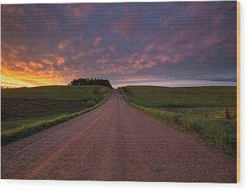 Wood Print featuring the photograph Backroad To Heaven  by Aaron J Groen