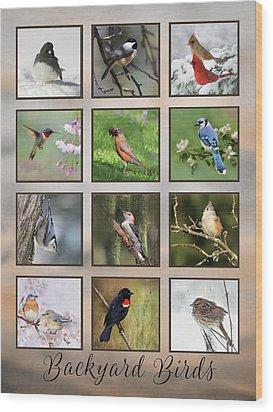 Wood Print featuring the photograph Backyard Birds by Lori Deiter