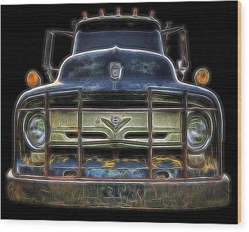 Bad 56 Ford Wood Print