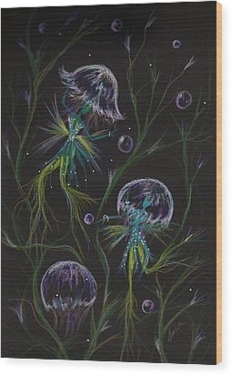 Wood Print featuring the drawing Bad Hair Day Solutions by Dawn Fairies