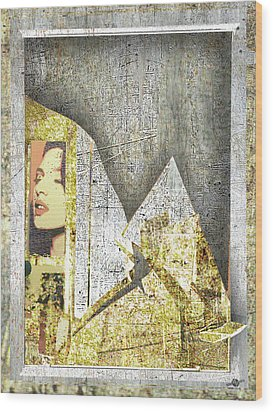 Wood Print featuring the mixed media Bad Luck by Tony Rubino