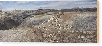 Wood Print featuring the photograph Badlands In Petrified Forest by Melany Sarafis