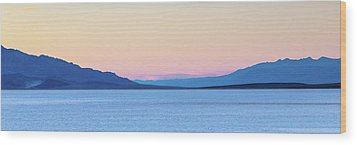 Wood Print featuring the photograph Badwater - Death Valley by Peter Tellone