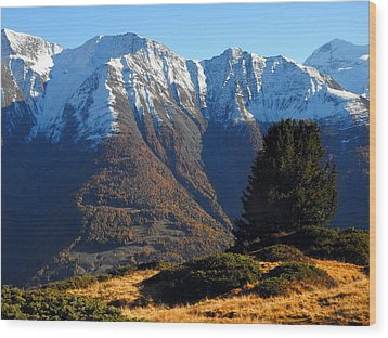 Baettlihorn In Valais, Switzerland Wood Print