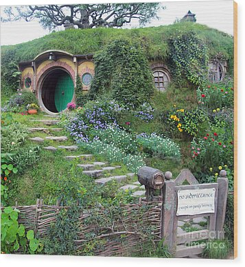 Bag End Wood Print by Anthony Forster
