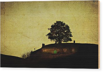 Bagend At Dusk Wood Print by Linde Townsend