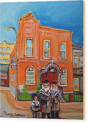 Bagg Street Synagogue Sabbath Wood Print by Carole Spandau