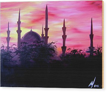 Baghdad Sunset Wood Print by Michael McKenzie