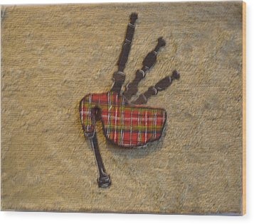 Bagpipes Balsa Wood Print by Paul Knotter