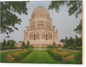 Baha'i Temple - Wilmette - Illinois Wood Print by Photography  By Sai