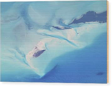 Bahama Banks Aerial Seascape Wood Print by Roupen  Baker