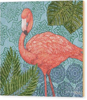 Bahama Flamingo II Wood Print