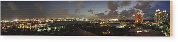 Wood Print featuring the photograph Bahama Night by Jerry Battle