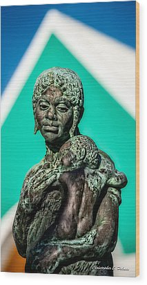 Bahamian Mother And Child Wood Print by Christopher Holmes
