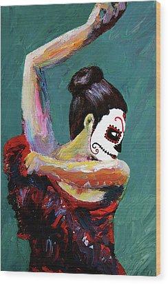 Bailan De Los Muertos Wood Print