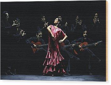 Bailarina Orgullosa Del Flamenco Wood Print by Richard Young