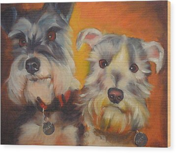Bailey And Casey Wood Print