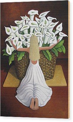 Baileyrae Lilies Wood Print by Lance Headlee