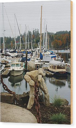 Wood Print featuring the photograph Bainbridge Harbor by Bruce Bley