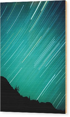 Baja Starry Night Wood Print by Benjamin Garvey