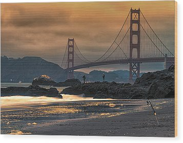 Baker Beach Golden Gate Wood Print