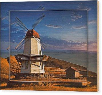 Baker City Windmill_1a Wood Print
