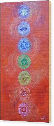 Balance Wood Print by Sundara Fawn