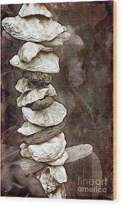 Balanced Wood Print by Ellen Cotton
