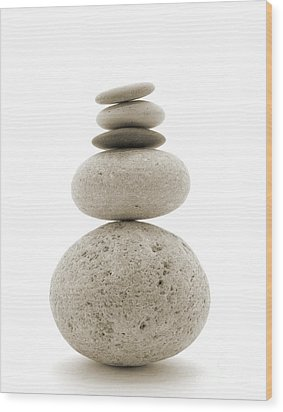 Balanced Wood Print by Jan Piller