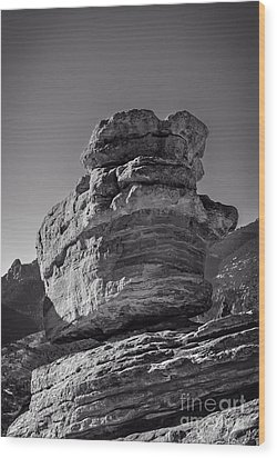Balanced Rock Wood Print by Charles Dobbs