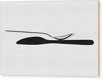 Wood Print featuring the photograph Balancing Spoon by Gert Lavsen