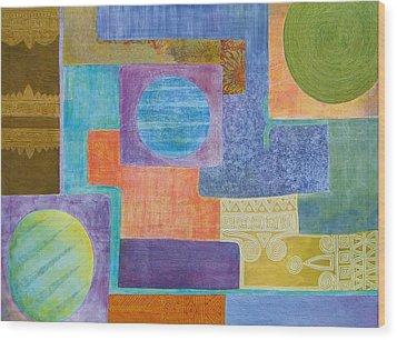 Balancing The Elements Wood Print by Jennifer Baird
