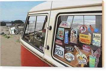 Balboa Bus Wood Print by Ron Regalado