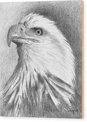 Bald Eagle Wood Print by Arline Wagner