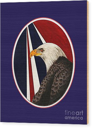 Bald Eagle T-shirt Wood Print by Herb Strobino