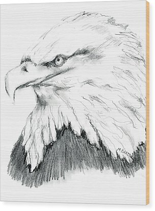 Bald Eagle Wood Print by Marilyn Barton