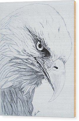 Bald Eagle Wood Print by Nancy Rucker