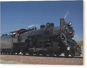 Baldwin Mikado 2-8-2 No 4960 Steam Locomotive Williams Arizona Wood Print by Brian Lockett