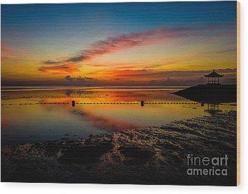 Bali Sunrise II Wood Print