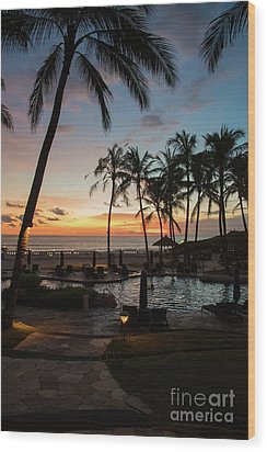 Bali Sunset Wood Print