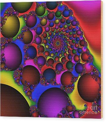 Ball Galaxy 203 Wood Print by Rolf Bertram