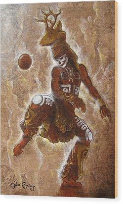 Ball Game Wood Print by J- J- Espinoza