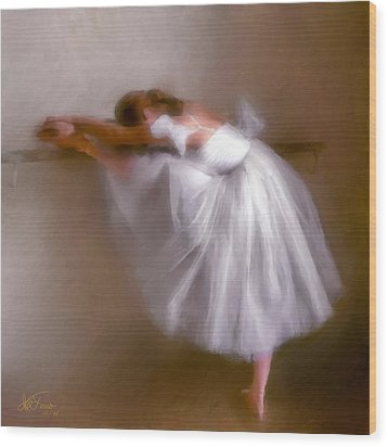 Wood Print featuring the photograph Ballerina 1 by Juan Carlos Ferro Duque