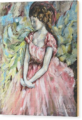 Ballerina Angel Wood Print