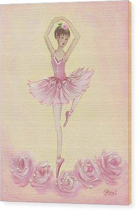 Ballerina Beauty Painting Wood Print