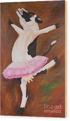 Ballerina Cow Wood Print