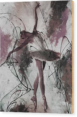 Ballerina Dance Painting 0032 Wood Print by Gull G