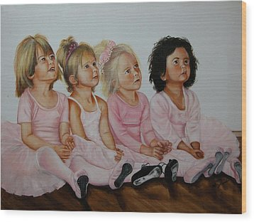 Ballerina Girls Wood Print by Joni McPherson