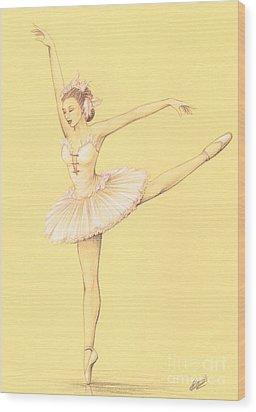 Ballerina II Wood Print by Enaile D Siffert
