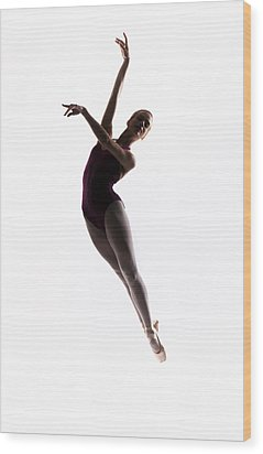 Ballerina Jump Wood Print by Steve Williams